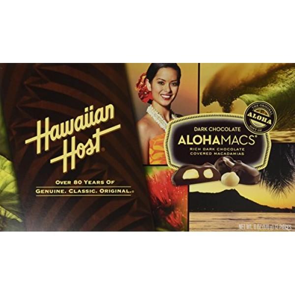 Hawaiian Host Alohamacs Dark Chocolate Covered Macadamia Nuts 1...