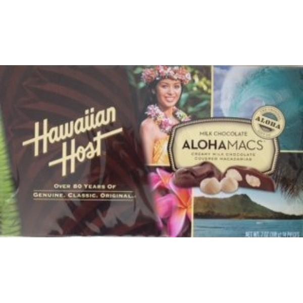 Hawaiian Host Alohamacs Milk Chocolate Macadamia Nuts 7oz Box 14...