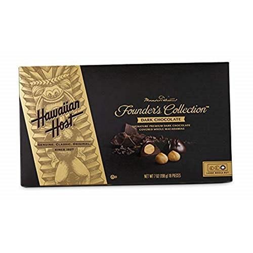 Hawaiian Host - Premium DARK CHOCOLATE Covered Whole Macadamia N...