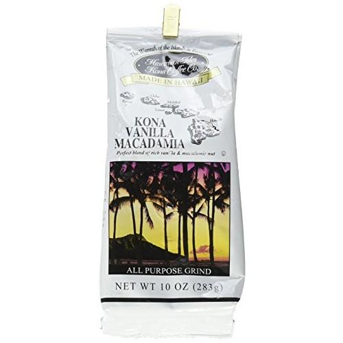 Hawaiian Isles Kona Coffee Co. Kona Vanilla Macadamia Nut Ground...