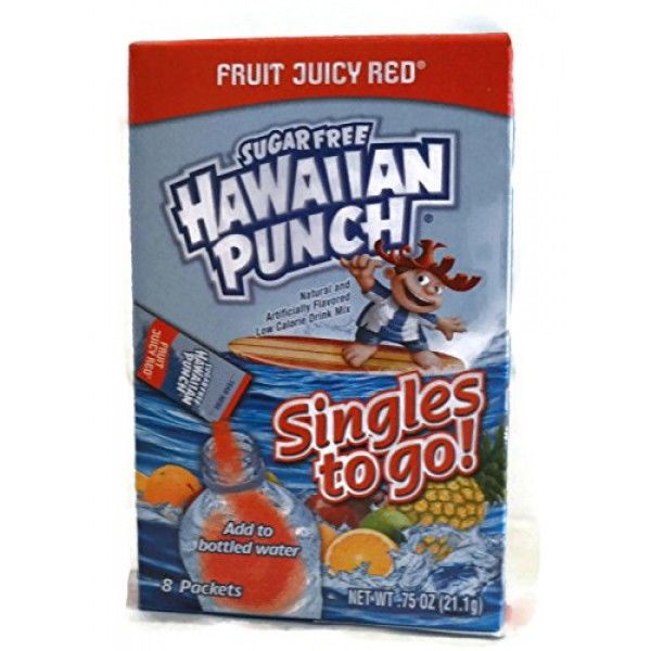3 Item Hawaiian Punch Sugar Free Single to Go Variety Bundle - 1...
