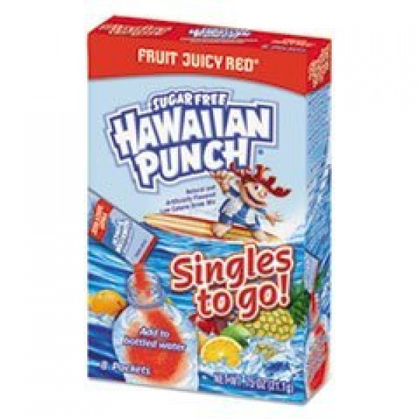 Drink Mix Singles, Fruit Juicy Red, 0.75 oz Stick, 8 Singles per...