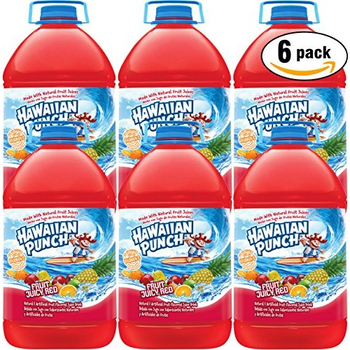 Hawaiian Punch Fruit Juicy Red, 1 Gal Bottle Pack of 6, Total o...
