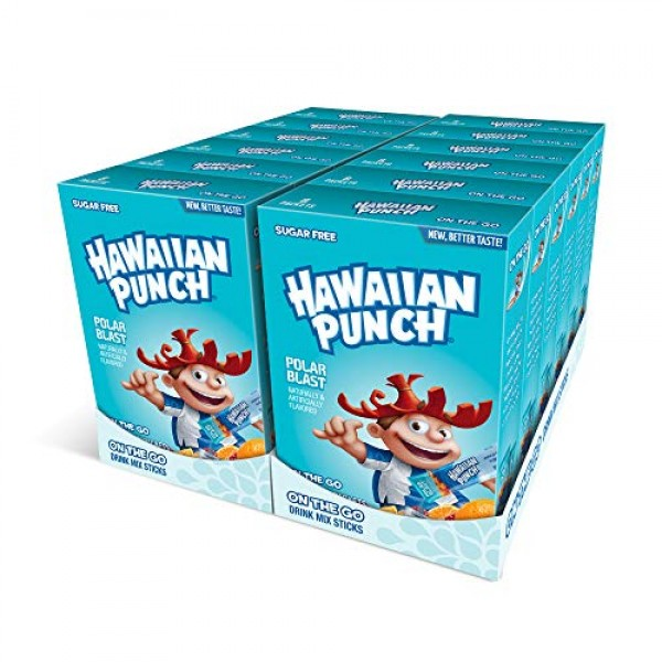Hawaiian Punch, Lemon Lime Splash– Powder Drink Mix - 12 boxes,...
