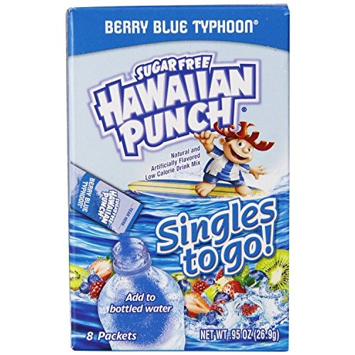 Hawaiian Punch Singles To Go Berry Blue Typhoon Drink Mix- 8 Ct ...
