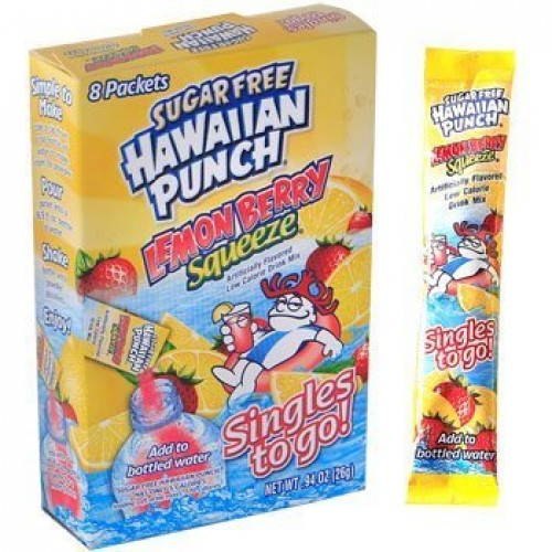 Hawaiian Punch Sugar Free Lemon Berry Squeeze Singles to Go 8 Pa...