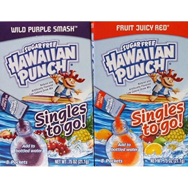 Hawaiian Punch Sugar Free Singles to Go Wild Purple Smash and Fr...