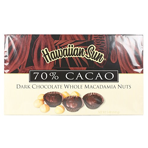 Hawaiian Sun 70% Cacao Dark Chocolate Whole Macadamia Nuts - 5 oz