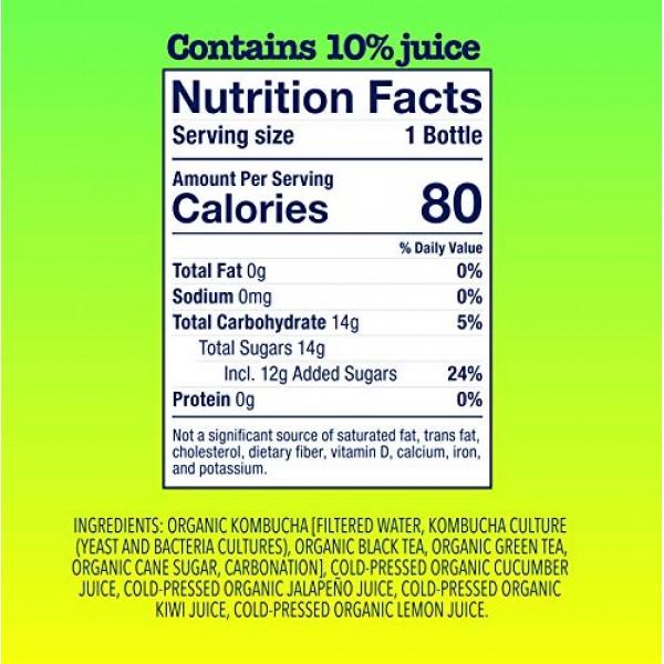 Health-Ade Kombucha an Organic Bubbly Probiotic Tea, 12 Pack Cas...