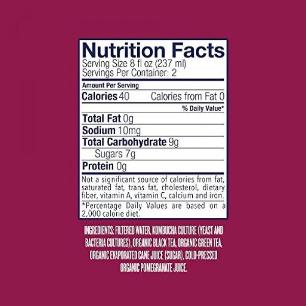 Health-Ade Kombucha, Organic Pomegranate, a Bubbly Probiotic Tea...