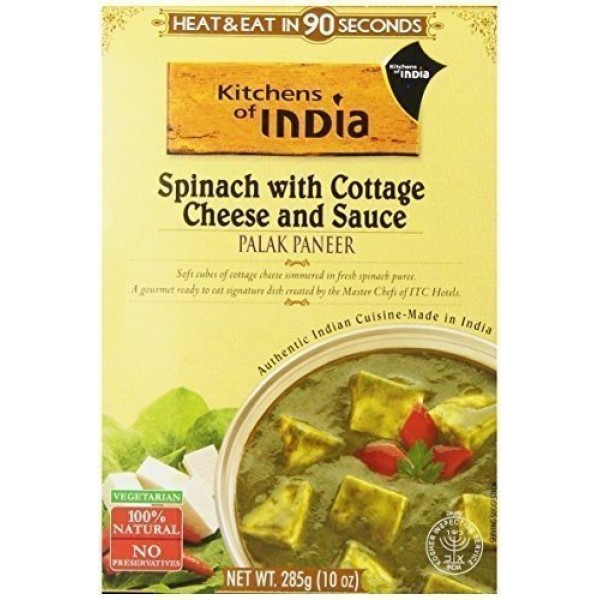 Kitchens Of India Ready To Eat Palak Paneer, Spinach With Cottag...