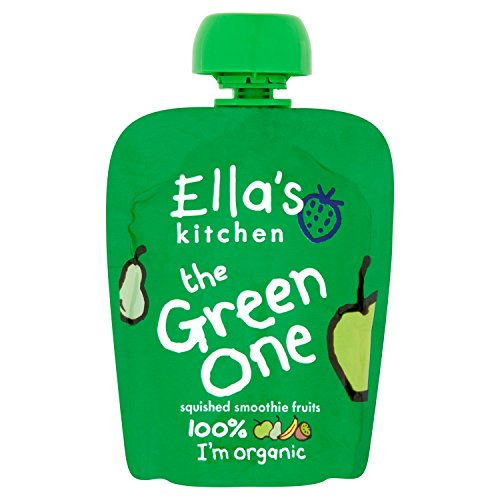 Ellas Kitchen The Green One Organic Smoothie Fruits 90 g Pack ...