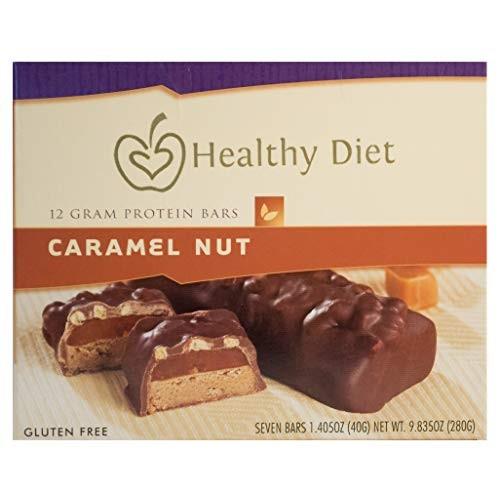 7 Gluten Free Caramel Nut Protein Bar, 1.405oz net wet.280g