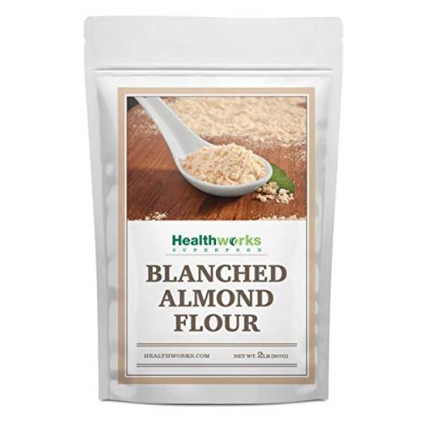 Healthworks Blanched Almond Flour 32 Ounces / 2 Pounds | Super...