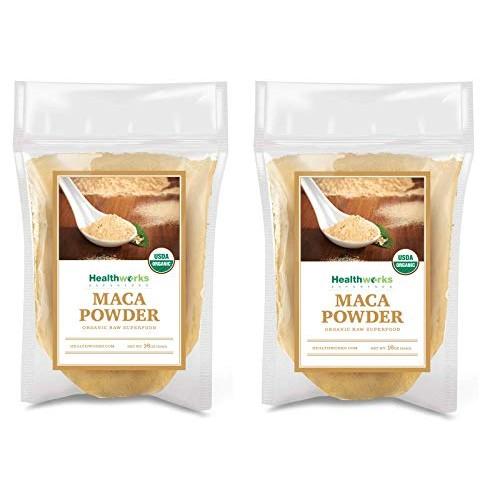 Healthworks Maca Powder Raw Organic, 2lb 2 1lb Packs