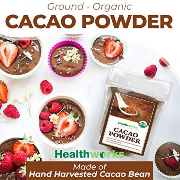 Healthworks Cacao Powder 32 Ounces / 2 Pounds 2 x 1 Pound Bag...