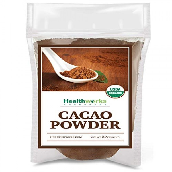 Healthworks Cacao Powder 32 Ounces / 2 Pounds | Cocoa Chocolat...