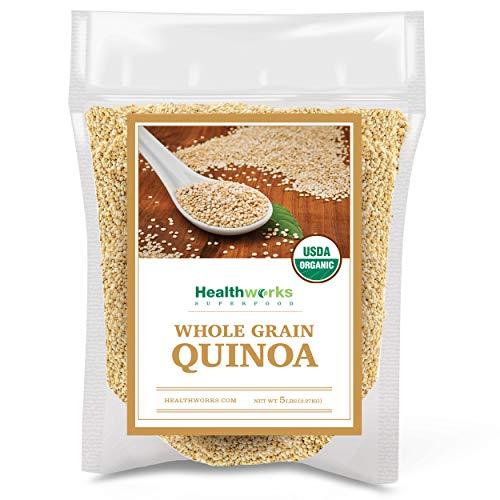 Healthworks Quinoa White Whole Grain Raw Organic 80 Ounces / 5 ...
