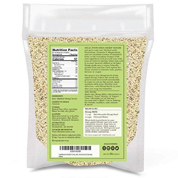 Healthworks Shelled Hemp Seeds Canadian 32 Ounces / 2 Pound | ...