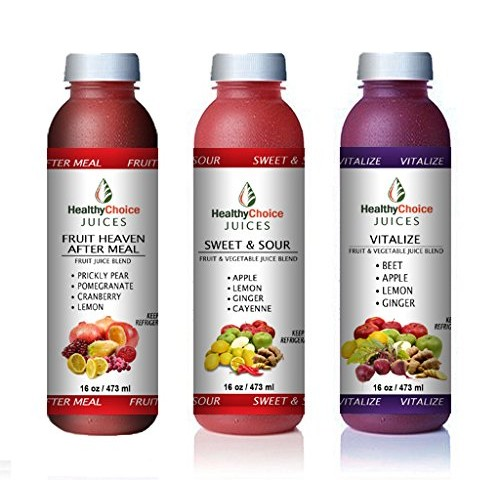 Healthy Choice Juices - 3-DAY Super Pack - Fruit Heavy After Mea...