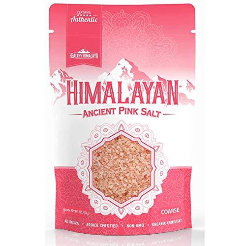 Premium Himalayan Pink Coarse Salt, Resealable 1 lb. Bag - Perfe...