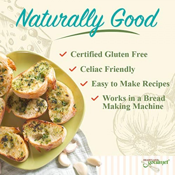 Heartland Gourmet Gluten Free Garlic Cheddar Bread Mix - Works i...