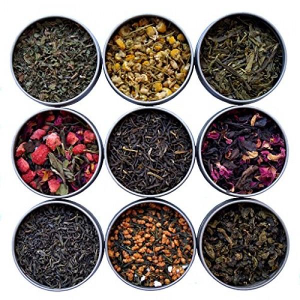 Heavenly Tea Leaves 9 Flavor Variety Pack, Loose Leaf Tea Sample...