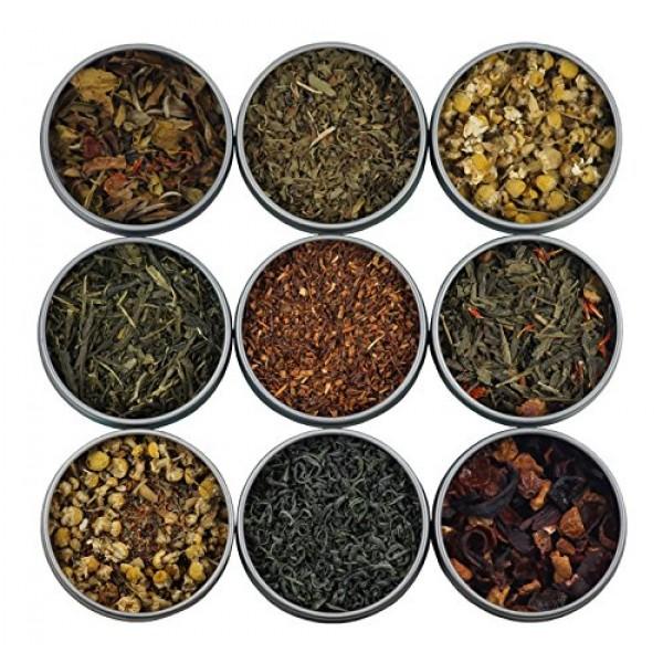 Heavenly Tea Leaves Assorted Tea Sampler, 9 Assorted Loose Leaf ...