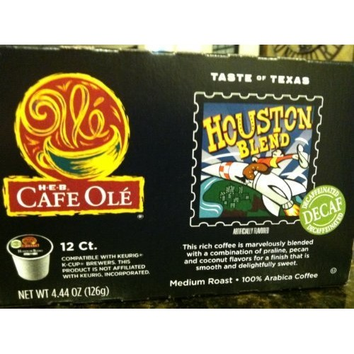 H.E.B. Taste of Texas-Houston Blend DECAF 12 Count single bre...