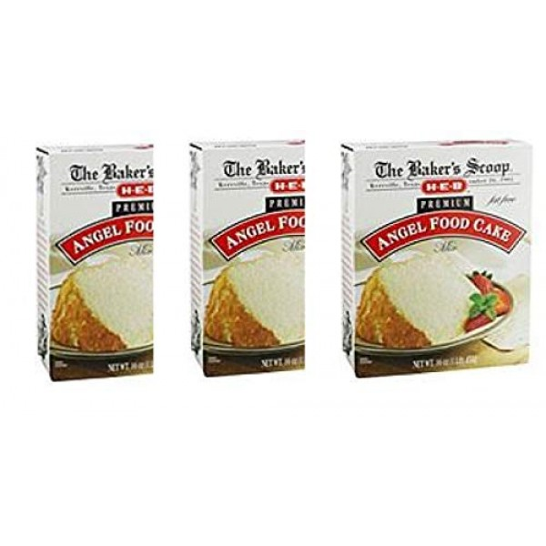 H‑E‑B Bakers Scoop Premium Fat Free Angel Food Cake Mixpack of 3