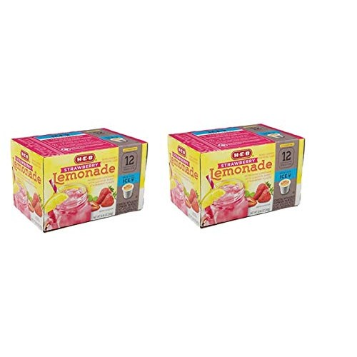 H-E-B Strawberry Lemonade; 2.0 Compatible 12 cts. Pack of 2 To...