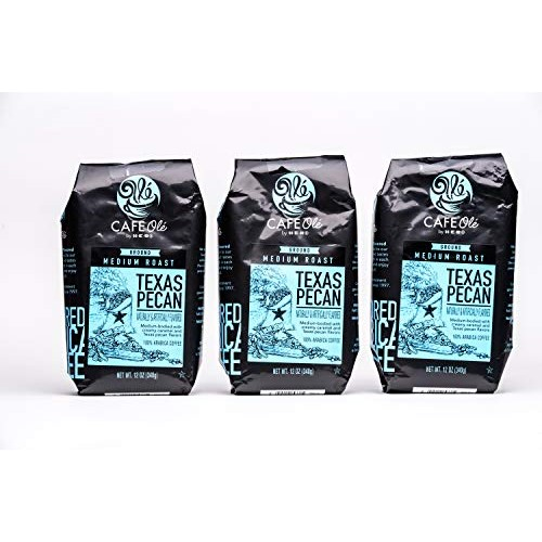 HEB Cafe Ole Ground Coffee 12oz Bag Pack of 3 Texas Pecan