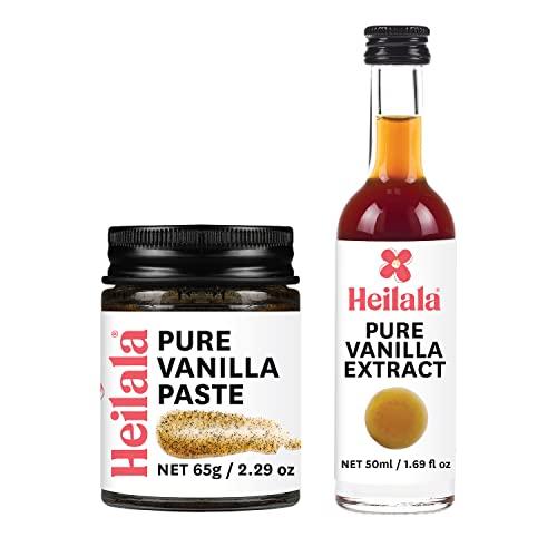 Vanilla Bean Paste and Pure Vanilla Extract for Baking Combo Pa...