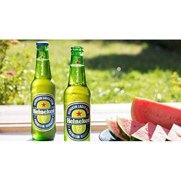 Heineken 0.0% Non-Alcohol, Alcohol Free Beer, Great Taste, Zero ...