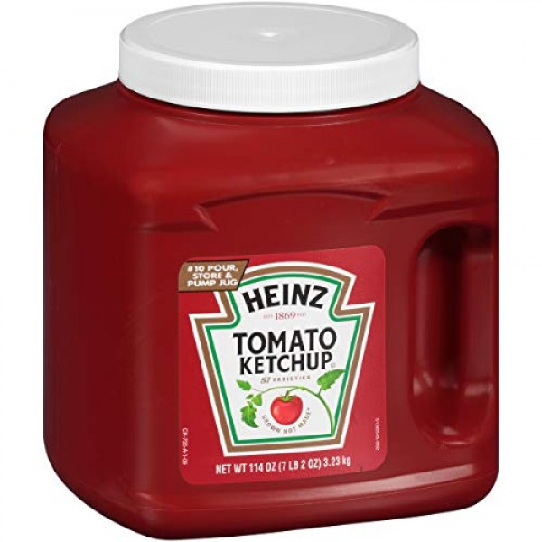 Heinz Bulk Ketchup Jug 114 oz Containers, Pack of 6