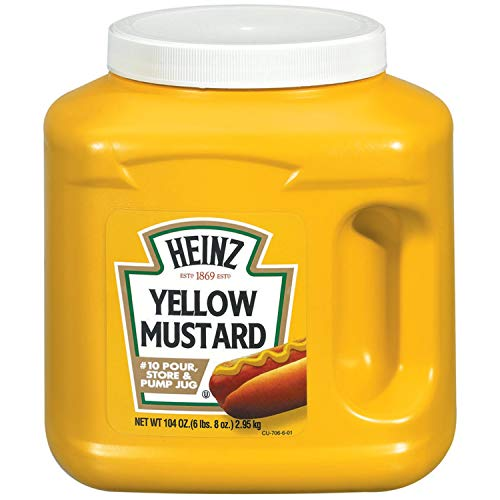 Heinz Bulk Yellow Mustard Jug 104 oz Containers, Pack of 6