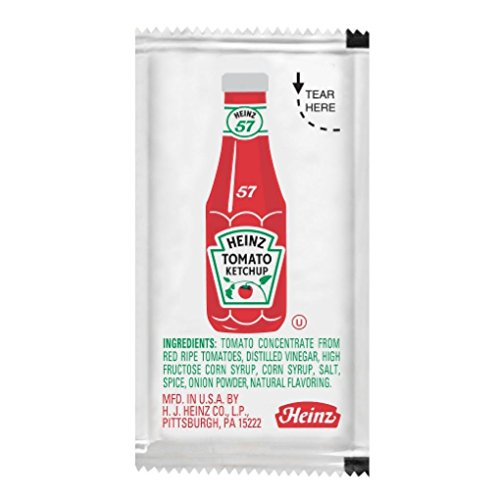 Heinz Ketchup Packet - .32 ozs. - Pack of 25