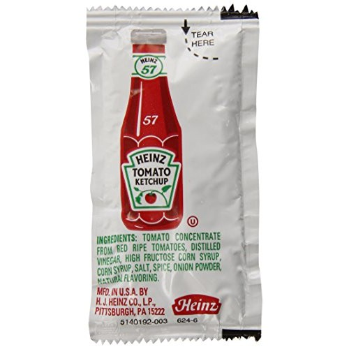 Heinz Ketchup Single Serve Packet 0.32 oz Packets, Pack of 1,500