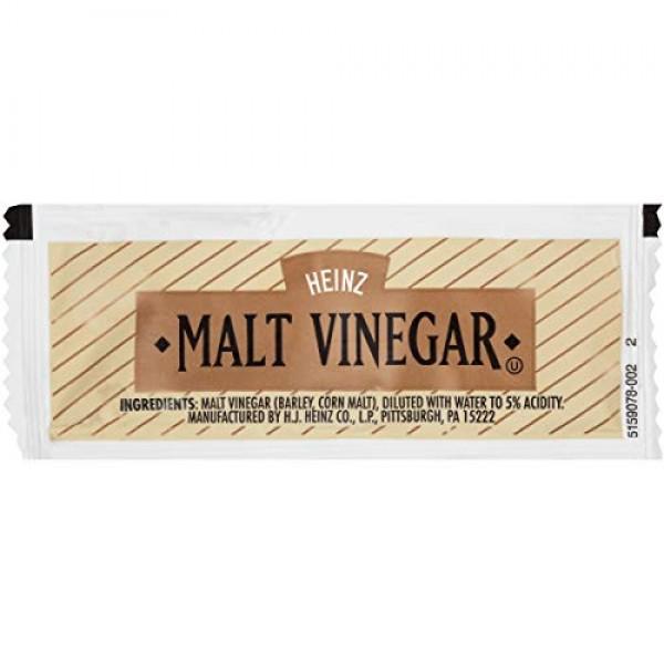 Heinz Malt Vinegar Single Serve Packet 0.3 oz Packets, Pack of ...