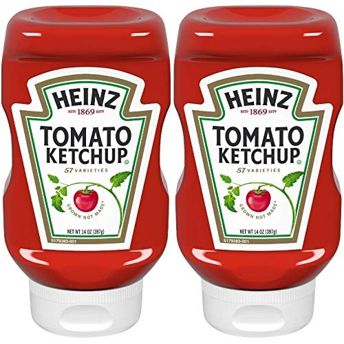 Heinz, Tomato Ketchup, 14oz Squeeze Bottle Pack of 2