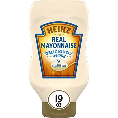Heinz regular mayonnaise regular fat content inverted squeze bot...