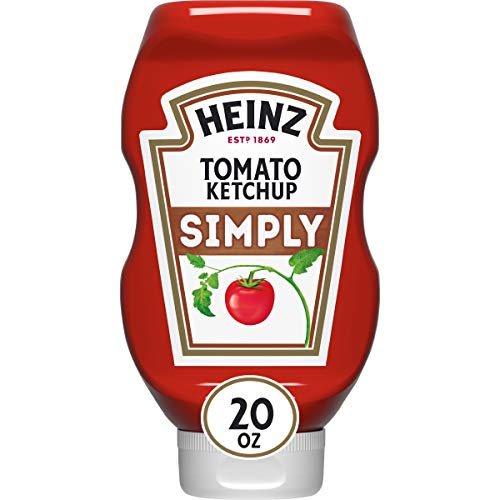 Heinz Simply Tomato Ketchup 20 oz Bottle, Pack of 12