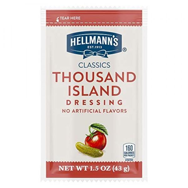 Hellmanns Classics Thousand Island Salad Dressing Portion Contr...