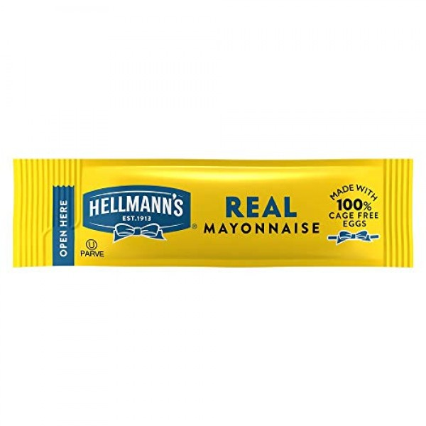 Hellmanns Real Mayonnaise Stick Packets Easy Open, Made with 10...