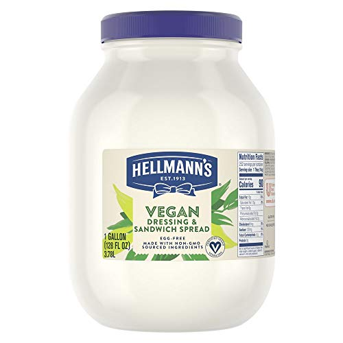 Hellmanns Vegan Mayonnaise Jar Made with Non GMO Sourced Ingred...