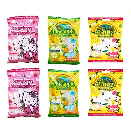 Marshmallows with Fruit Flavored Jelly Filling Pack of 6