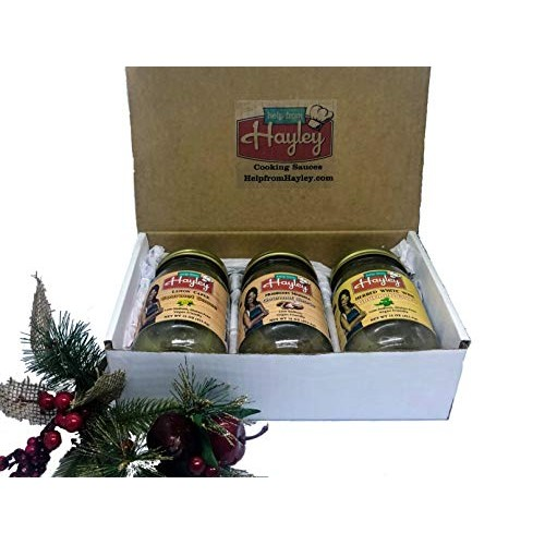 3 Pack Help From Hayley Gourmet Sauce Gift Box- Italian Flavors-...