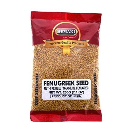 HEMANI Fenugreek Seed Whole Methi - Indian Spice 200g 7.1 OZ...