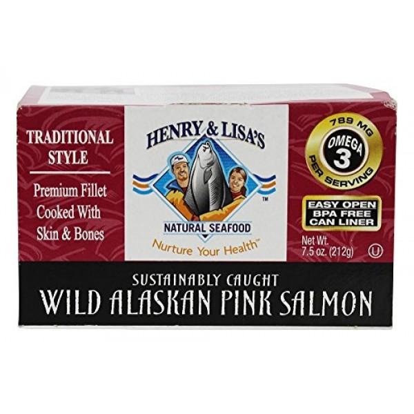 HENRY & LISAS Wild Alaskan Pink Salmon, 7.5 OZ