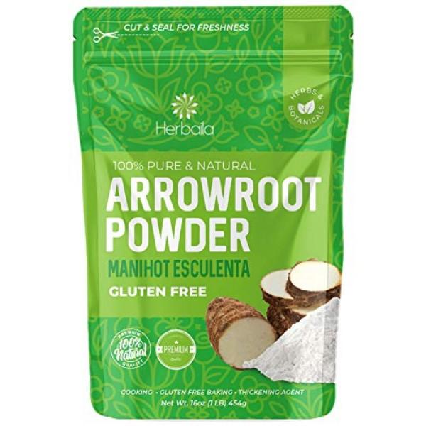 Arrowroot Powder 1 Lb. Arrowroot Flour Starch, Immune Health & M...